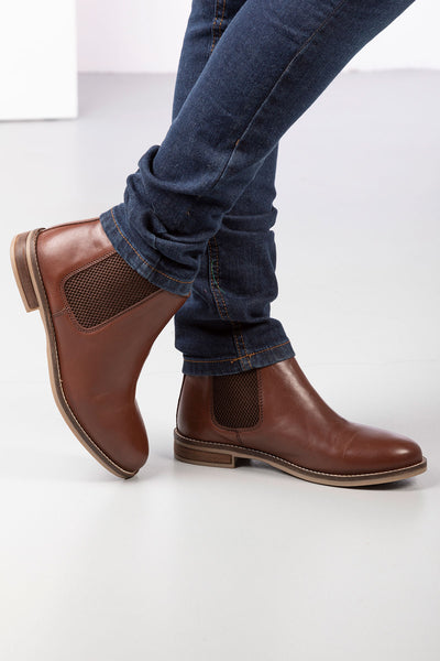 16b77e4ac3949 ... Brown - Ladies Kirby Leather Boots ...