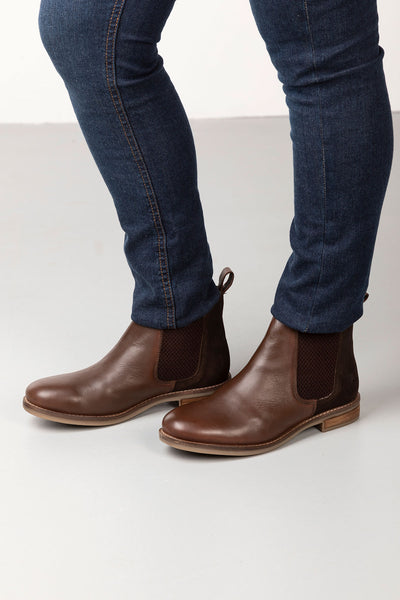 Chocolate - Kirby Leather Chelsea Boots