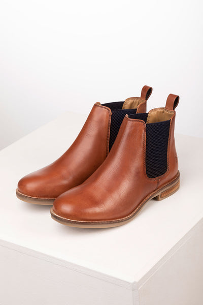 Cognac - Kirby Leather Chelsea Boots