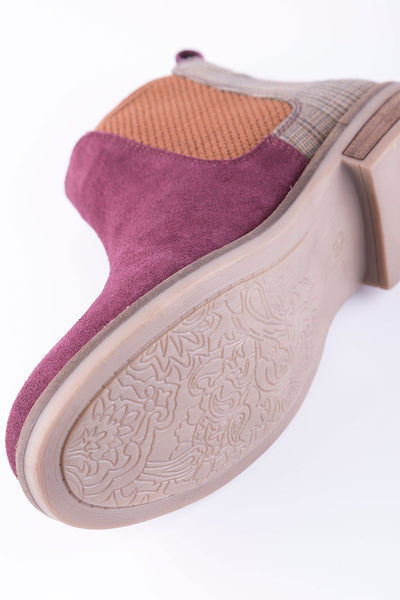 Berry/Tweed - Ladies Kirby Suede Boots