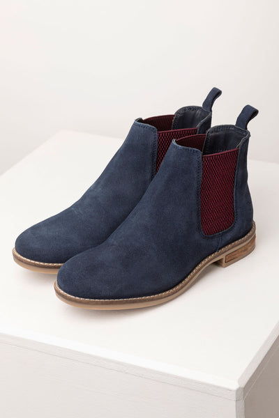 Navy/Plum - Kirby Suede Chelsea Boots