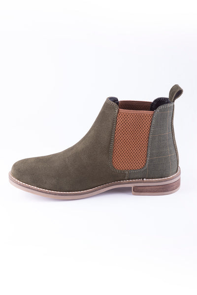 Olive/Tweed - Ladies Kirby Suede Boots