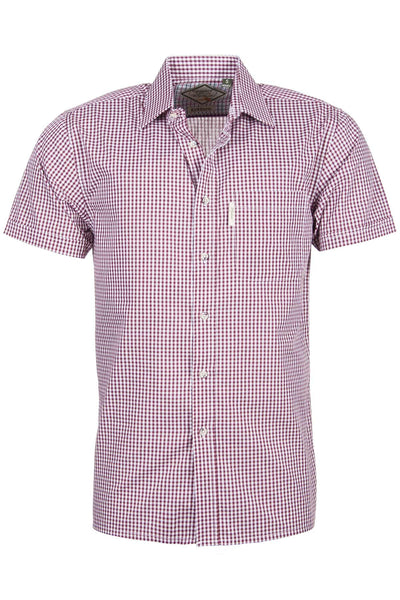 Kirkburn Red - Short Sleeved Shirt