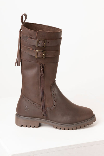 Oak - Ladies Biker Style Boots Kilham