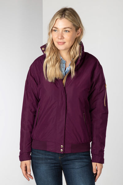 Berry - Ladies Ripon IV Equestrian Bomber Jacket