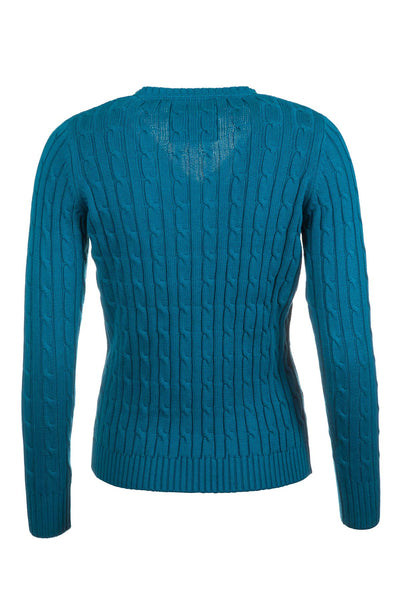 Deep Sea - 2017 V Neck Cable Knit Sweater