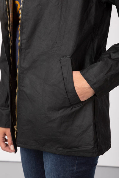 Black - Ladies Cawood Wax Jacket