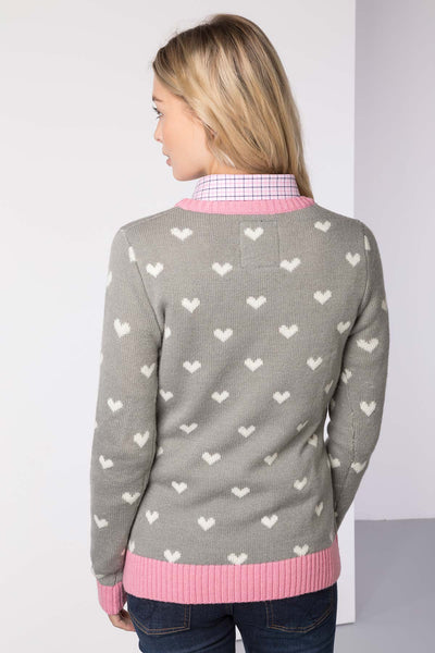 Grey - Ladies Christmas Sweater