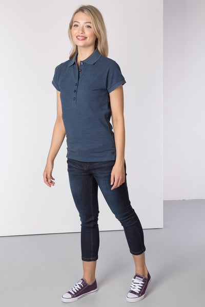 Denim Marl - Ladies Classic Polo Shirt