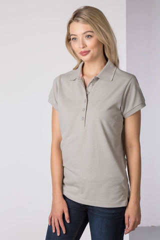 Marl Grey - Ladies Classic Polo Shirt