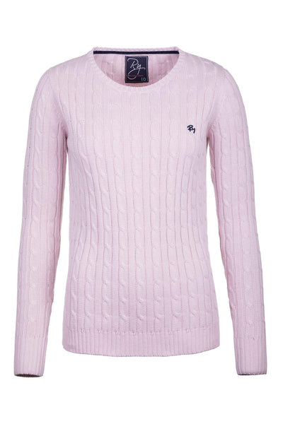 Sorbet - Ladies Crew Neck Cable Knit Sweater