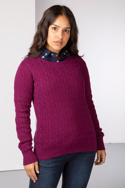 Mulberry - Cable Knit Sweater by Rydale