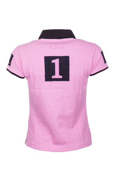 Pink - Ladies Cropton Numbered Polo Shirt