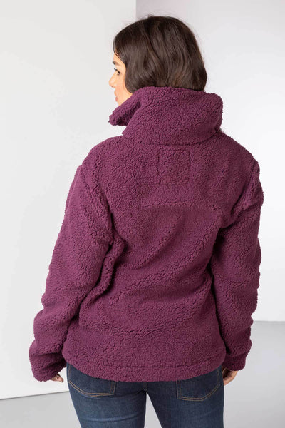 Berry - Ladies Etton Overhead Sherpa Fleece