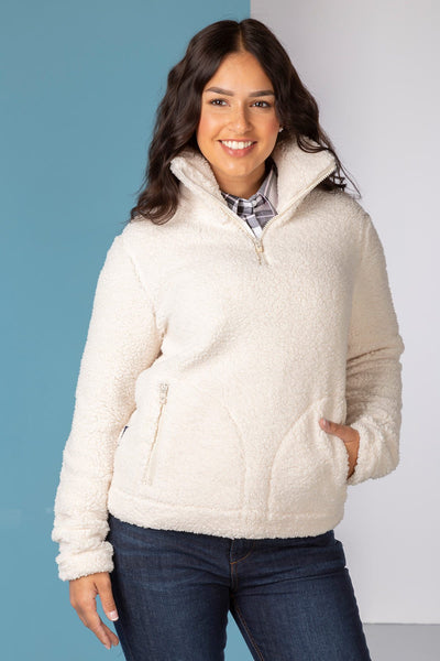 Cream - Ladies Etton Overhead Sherpa Fleece