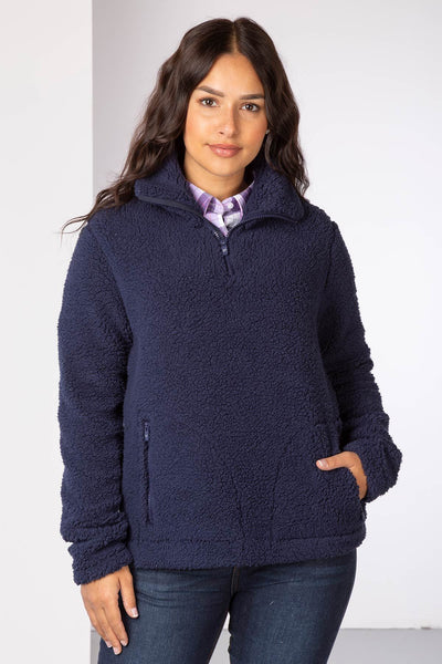 Navy - Ladies Etton Overhead Sherpa Fleece