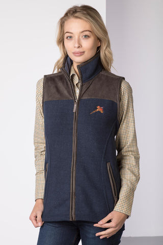 Ladies Garton II Fleece Gilet Pheasant Motif