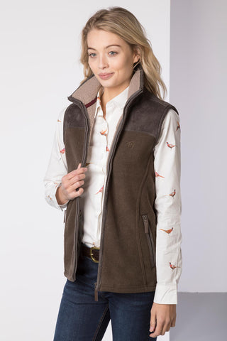 Ladies Garton II Fleece Gilet Ry Motif