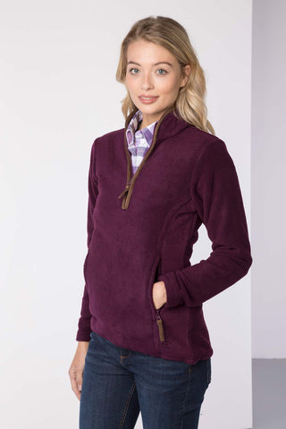 Berry - Ladies Huggate Overhead Fleece