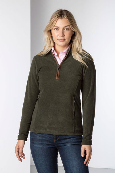 Khaki - Ladies Huggate Overhead Fleece