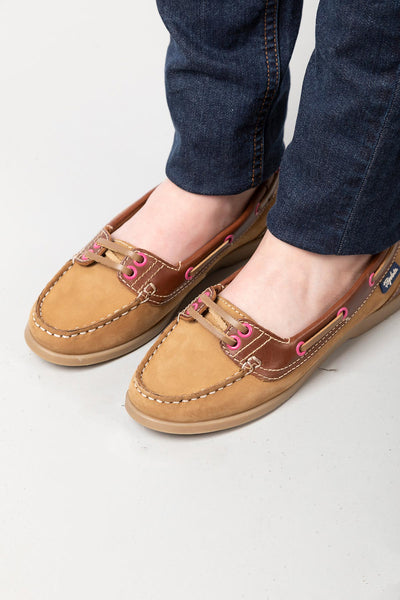 Tan/Brown - Ladies Low Front Shoes - Cayton