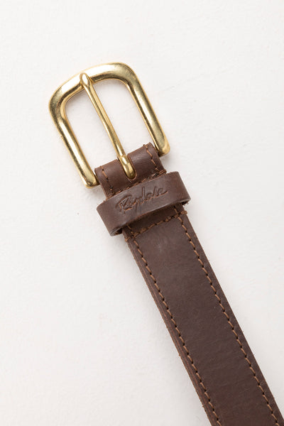 Brown - Ladies Plaited Leather Belt