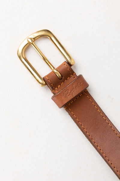 Tan - Ladies Plaited Leather Belt