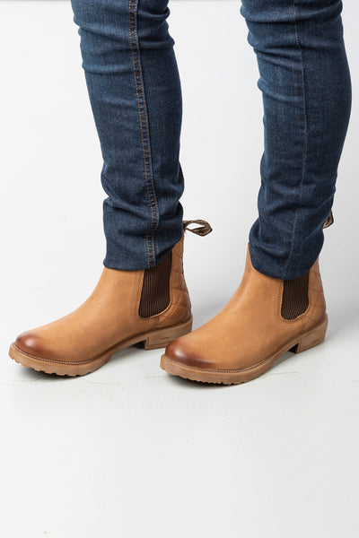 Bison - Ladies Pull On Chelsea Boots - Skelton