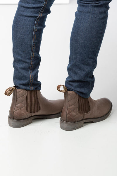 Waxy Brown - Ladies Pull On Chelsea Boots - Skelton