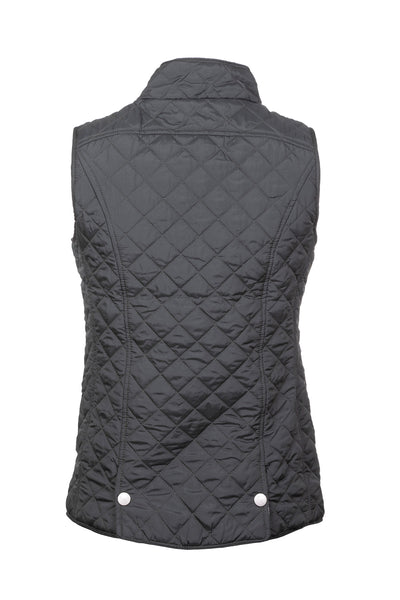 Dark Khaki - Ladies Quilted Gilet - Hutton