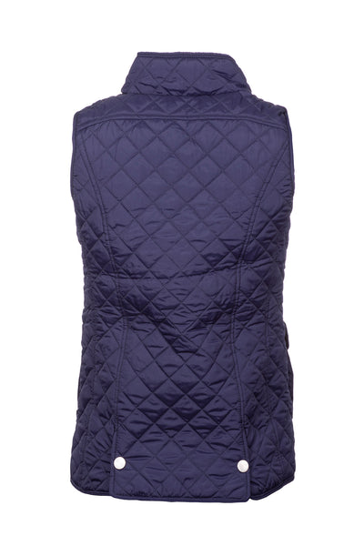 Navy - Ladies Quilted Gilet - Hutton