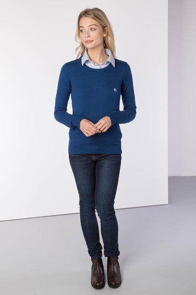 Dark Denim - Ladies Round Neck Sweater
