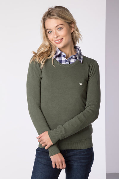 Sage - Ladies Round Neck Sweater