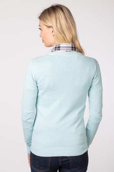 Seafoam - Ladies Round Neck Sweater