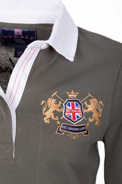 Khaki - Ladies Rugby Shirt - Cropton Plain