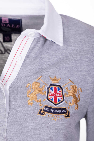 Marl Grey - Ladies Rugby Shirt - Cropton Plain