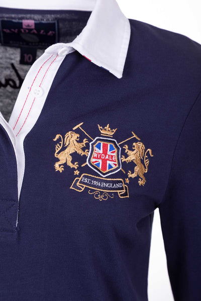 Navy - Ladies Rugby Shirt - Cropton Plain