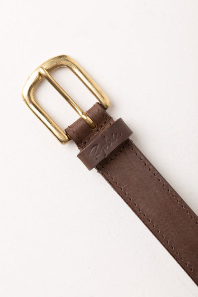 Brown - Ladies Studded Leather Belt