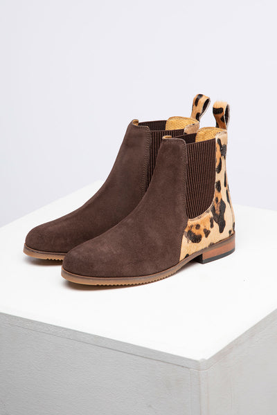 Brown - Ladies Suede Chelsea Boots - Rievaulx