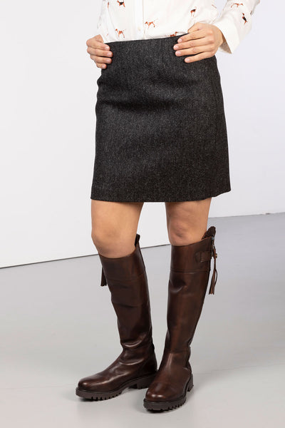 Charcoal Delight - Ladies Limited Edition Tweed Skirt - Kate