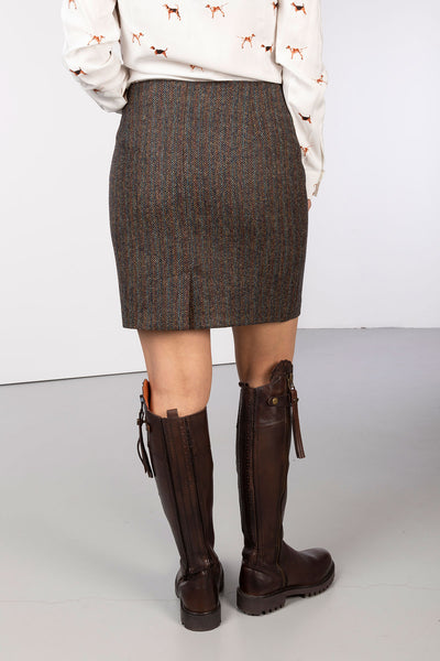 Outdoor Teal Bone - Ladies Limited Edition Tweed Skirt - Kate