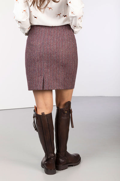 Plum Berry Bone - Ladies Limited Edition Tweed Skirt - Kate