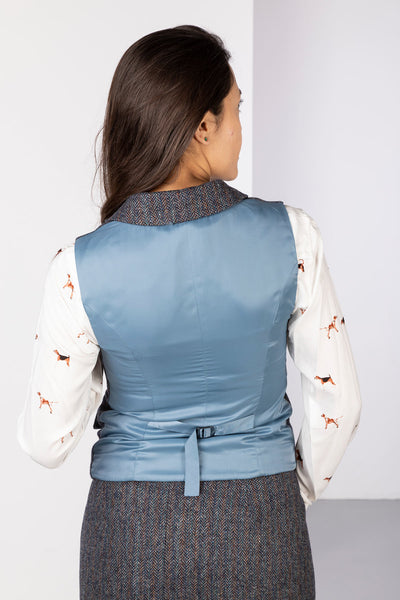 Blue Moon - Ladies Limited Edition Tweed Waistcoat - Helen