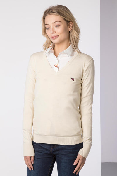 Ice Cream - Ladies V Neck Fine Knit Sweater