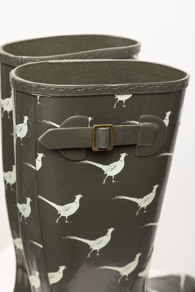 Olive Pheasant - Ladies Wellingtons - Ripon III