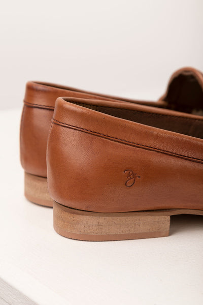 Tan - Ladies Wrelton Snaffle Leather Loafers