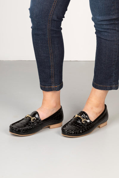 Ladies Snaffle Patent Loafers UK | Rydale