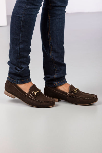Brown - Ladies Wrelton Snaffle Loafers