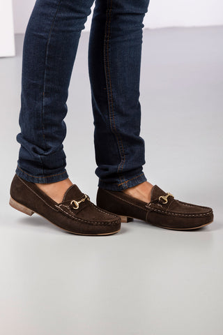 Ladies Wrelton Snaffle Suede Loafers