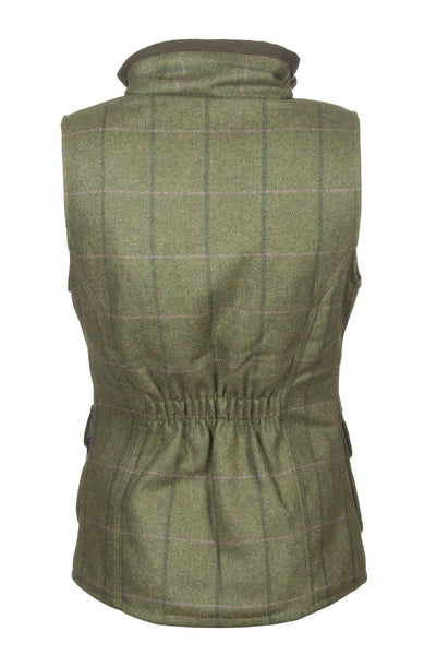 Olive - rydale ladies tweed bodywarmer